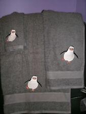 Penguin Personalized 3 Piece Bath Towel Set Madagascar Penguins Any Color Choice