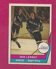 RARE 1977-78 OPC WHA # 48 AEROS DON LARWAY ROOKIE  MINT CARD  (INV#1383)