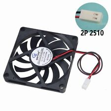 80x80x10mm 8cm DC 12V 2Pin 2510 Connector Brushless PC Computer Cooling IDE fan
