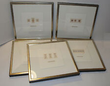5 FRAMED DRAWINGS OF PRESSED FLOWERS & FERNS! SOICHER MARIN GALLERY!  BIG! 21x21