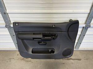2007-2010 Chevy Silverado GMC SIERRA  BLACK Driver FRONT DOOR PANEL