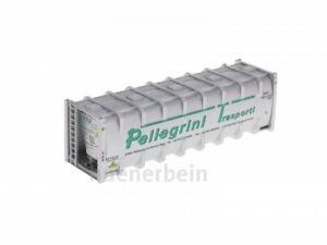 Kombimodell 87491.02 Bulk-Container 30' PELLEGRINI TRANSP silber H0 1/87 NEU+OVP