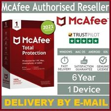 McAfee Total Protection 2021 Antivirus | 6 Year 1Device | Win, Android, Mac, iOS