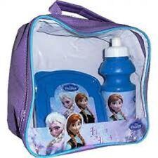 Disney Niños Frozen Anna / ELS 3 PIEZAS MORADO AZUL aislante Colegio Viaje
