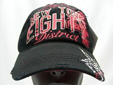 NEW YORK - DISTRICT EIGHTY FOUR - 1984 BLACK DISTRESSED STYLE BALL CAP HAT!