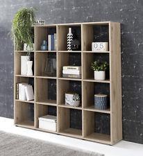 Wilmes: Raumteiler mit 16 Fächer - Bücherregal Standregal Regal - Eiche Sand