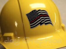 Firefighter American Flag Hard Hat Sticker | USA Flags Motorcycle Helmet Decal
