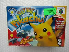NEW Hey You Pikachu Pokemon Video Game Nintendo 64 N64 Detective CIB OEM Mic NIB