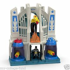 Fisher Price Imaginext Dc Superfriends Batman & Superman Hall Of Justice New