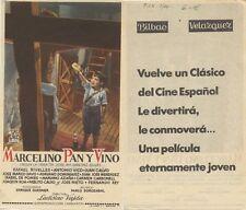 Programa de CINE. Título película: Marcelino Pan y Vino.