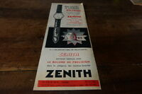 ZENITH - RECORD DE PRECISION - Publicité de presse / Press advert 1955