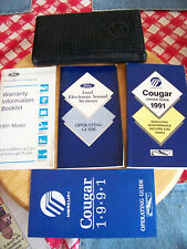 1991 Mercury Cougar Owners Guide Manual and Other Brochures with Carrying Case