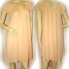 Womens Orange Night Dress Nightgown Nighty Gown Intimate Sleepwear Lingerie L