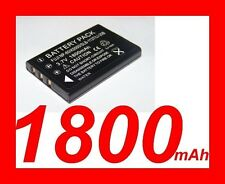 "★★★ ""1800mA"" BATTERIE Lithium ion ★ Pour Fujifilm NP-60 NP60/ Casio NP-30 NP30"