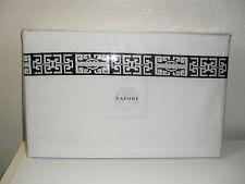 NATORI INDOCHINE BLACK WHITE JACQUARD KING FLAT SHEET