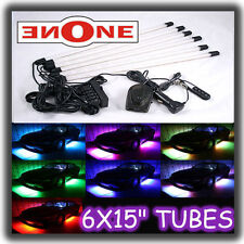 "6pc 15"" Flexible 7 Color Led Interior Light Kit For Cars Accent Neon"