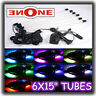 "6PC 15"" LED Golf Cart Underbody Light Kit Many Modes"