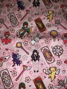"""Custom Sailor Moon Pink 10x56"""" Remnant 100 Cotton Fabric -Ships Fast !"""