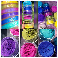 6 Colors Eyeshadow Stack Pigmented Shimmer Makeup Cosmetic Nail Art