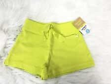 Carter's Girls Shorts Size 5 Pull Ons Elastic Waist Yellow green Cotton  NWT