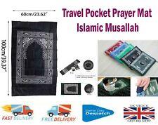 Islamic Travel Pocket Prayer Mat Musallah With Qibla Kaaba Compass