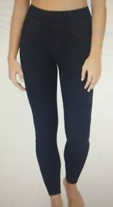 Assets Spanx Leggings Size 1X 20223R Jean Look Indigo Blue Shaping D10