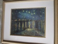 """Starry Night Over The Rhone"" Van Gogh Framed Print 22.5"" X 18.5"""