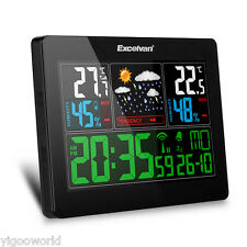 Professional LCD Wireless Weather Station Barometer Thermometer Humidity EU PLUG