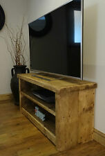 BESPOKE HANDMADE RUSTIC FARMHOUSE STYLE WOODEN TV UNIT / STAND - 07985 161977