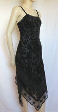 Laura Ashley Cocktailkleid 36 schwarz Samt Seide Abendkleid Spitze Hochzeit