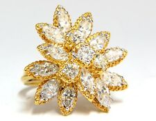 3.51ct Natural Diamonds Marquise & Rounds Cocktail Prime Cluster ring 14kt