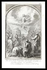 santino incisione 1700 L'ASCENZIONE DI GESU' tardieu