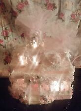 Pink Victorian Christmas Village Pink Christmas Village Shabby Chic Roses