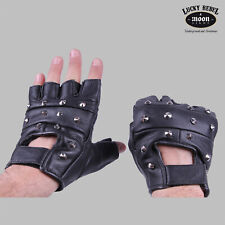 Mil-Tec Leather Gloves Biker Without Finger with Rivets - Gothic Punk Skirt