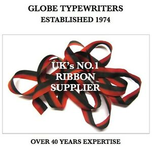 🌎 METTOY ELEGANT *BLACK/RED* TYPEWRITER RIBBON READY TO CUT TO SIZE AND ATTACH