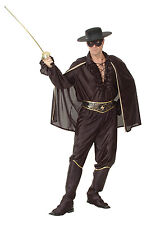 Mens Bandit Man Deluxe Costume for Wild West Cowboy Robber Fancy Dress Outfit AD