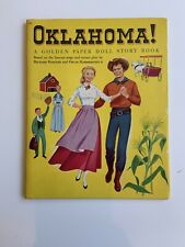 Oklahoma - 1956 Golden Paper Doll Story Book - Rare & UNCUT