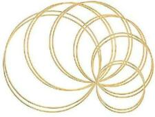 Macrame Rings Large Gold Metal and Wooden Hoop Ring for Crafts 3mm Cotton Cord