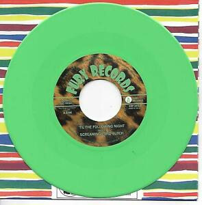 """SCREAMING LORD SUTCH & THE SAVAGES Til The Following Night 7"""" Single GREEN VINYL"""