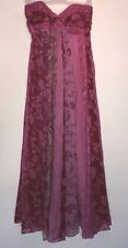 UK 12 MONSOON PINK FLORAL MAXI DRESS PARTY/TOWIE/FESTIVAL/IBIZA. NEW RRP £180