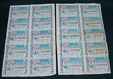 OPC 1937 Mexico Lotteria Nazionale Biglietti IN 2 Diversi Fogli Di 10