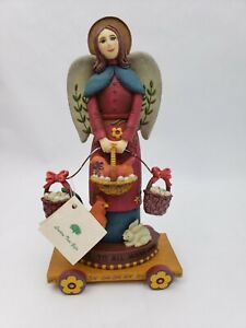 Americana Christmas Angel/Chicken DEMDACO Peace To All Mankind 2001 Kathy Killip