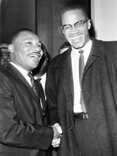 MALCOLM X & MARTIN LUTHER KING GLOSSY POSTER PICTURE PHOTO PRINT CIVIL RIGHTS