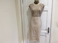 Brand New Womens Studded Mesh Nude Real Bandage Party Evening Dress 14