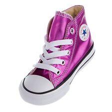 Converse Chuck Taylor Size 5T All-Star Hi-Top Magenta Glow/Black/White 755556F