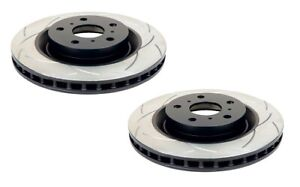 DBA T2 Slotted Brake Rotor Pair Front DBA2808S fits Volkswagen Scirocco 2.0 R...