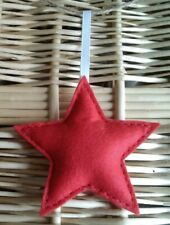 A Handmade Red Felt Star Hanging Decoration Ideal for Gift
