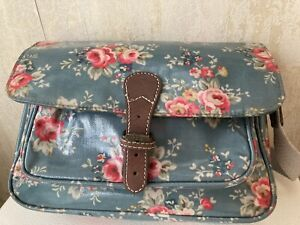 Cath Kidston Blue Floral Small Satchell Style Crosdbody Bag