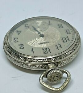 1927 VINTAGE ANTIQUE POCKET WATCH ELGIN 16s 15j GRADE 313 RUNNING WATCH!