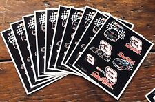 10 sheets Dale Earnhardt Scrapbooking Stickers 3 NASCAR Goodwrench Car Racing